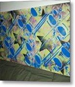 Spray Stars Metal Print