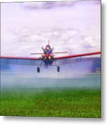 Spraying The Fields - Crop Duster - Aviation Metal Print