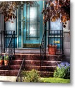 Spring - Door - Apartment Metal Print by Mike Savad