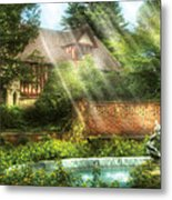 Spring - Garden - The Pool Of Hopes Metal Print