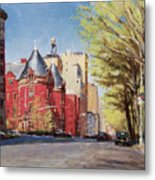 Spring Afternoon, Central Park West Metal Print