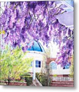 Spring At City Hall Metal Print