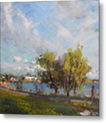 Spring At Gratwick Waterfront Park Metal Print