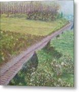 Spring At The Railroad Cut Gettysburg Metal Print