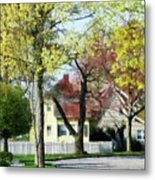 Spring Begins In The Suburbs Metal Print