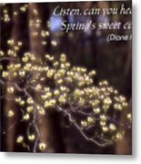 Spring Blossoms Poster Metal Print