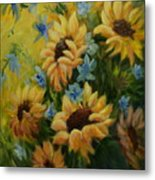 Sunflowers Galore Metal Print