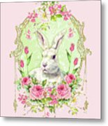 Spring Bunny Metal Print by Wendy Paula Patterson