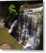 Spring Color At Burgess Lower Falls Metal Print
