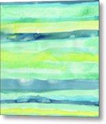 Spring Colors Pattern Horizontal Stripes Metal Print