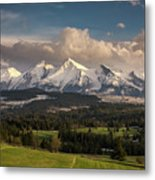Spring Comes To The High Tatra Mountains In Poland Metal Print