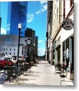 Spring Day In Downtown Lexington, Ky Metal Print