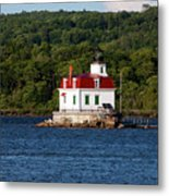 Spring Evening At Esopus Lighthouse Metal Print