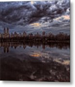 Spring Evening Central Park Nyc 2 Metal Print