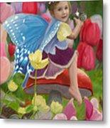 Spring Fairy Metal Print