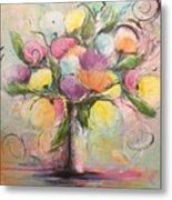 Spring Fling Flowers In A Vase Metal Print