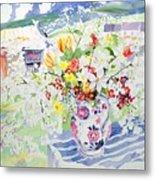 Spring Flowers On The Island Metal Print