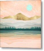 Spring Forest Lake Metal Print