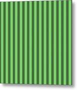 Spring Green Striped Pattern Design Metal Print