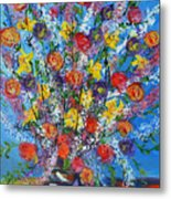 Spring Has Sprung- Abstract Floral Art- Still Life Metal Print