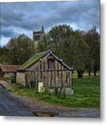 Spring House And Abbey Metal Print