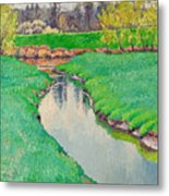 Spring In Bloom Landscape Metal Print