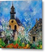 Spring In Foy Notre Dame Dinant Metal Print