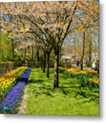 Spring In Keukenhof, Netherlands Metal Print