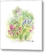 Spring In My Garden Metal Print