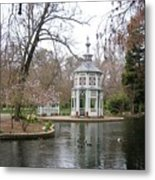 Spring In The Aranjuez Gardens Spain Metal Print