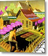 Spring In Townville Metal Print