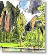 Spring In Yosemite Metal Print