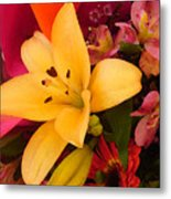 Spring Lily Bouquet Metal Print