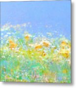 Spring Meadow Abstract Metal Print