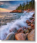 Spring Morning In Acadia National Park Metal Print