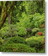 Spring Morning In The Garden Metal Print