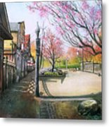 Spring On Clarke Street Port Moody Metal Print