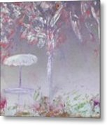 Spring On The Patio Metal Print