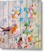 Spring On Wood 06 Metal Print