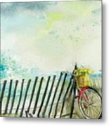 Bicycle Ride. Mayflower Storm. Metal Print