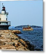 Spring Point Ladge Lighthouse - Maine Metal Print