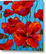 Spring Poppies Metal Print