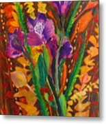 Spring Purple Bouquet Metal Print