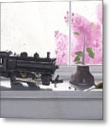 Spring Rain  Electric Train Metal Print