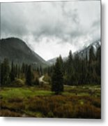 Spring Rain In The Wasatch Metal Print
