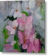 Spring Rain Oil Painting Metal Print