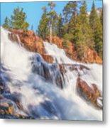 Spring Runoff At Glen Alpine Falls Metal Print