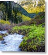 Spring Snow Melt Wasatch Mountains Utah Metal Print by Utah Images
