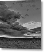 Spring Storm Front In Black And White Metal Print