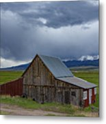 Spring Storm Looms Above The Wet Mountain Valley Metal Print